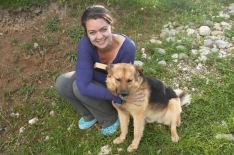 Papi just loves my visitors and volunteers like Krissie, who make a huge fuss of him and let him take them for long walks