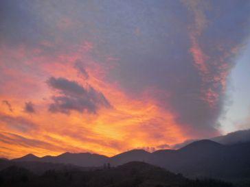 This volcanic sunset over Piatra Craiului was quite unnerving