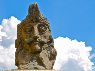 Vlad III, Voivoide of Wallachia, known forever as the Impaler Vlad Tepes, watching over his home town of Sighisoara