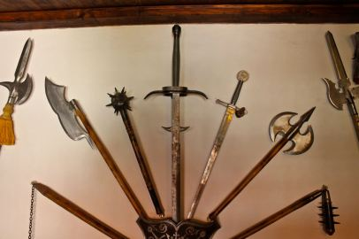 Bran Castle's weapons of death