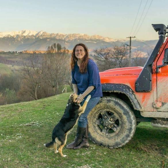 Rebecca Carlton in Magura, Transylvania